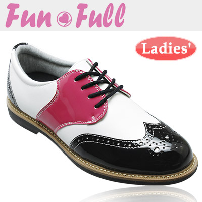 FunFull [ファンフル] スパイクレス レディース ゴルフシューズ FUN100 [ピンクブラック]