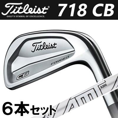 Titleist [タイトリスト] 718 CB アイアン 6本セット (#5-P) AMT TOUR WHITE スチールシャフト [日本正規品]