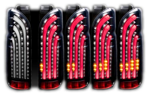 415 COBRA LIGHT SABER SEQUENTIAL トヨタ ハイエース 200系用 カラー:インナーブラック/スモークレンズ(SDLS200VSQB)【電装品】415コブラ ライトセーバー シーケンシャル LED TAIL LAMP LEDテールランプ