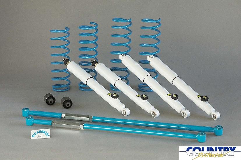 4x4 エンジニアリング カントリーサスペンションキット 5cmUP ジムニー JB23W用バネ+14段ショック ロッド・ブッシュ付(74230-37)