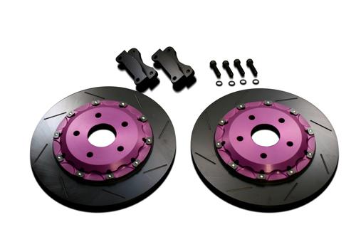 Biot Rear Brake Offsetkit ミツビシ ランサーエボリューション5/6 CP9A用 330仕様 (BR.OS.EVO-S-3)【ブレーキローター】ビオ リア ブレーキオフセットキット