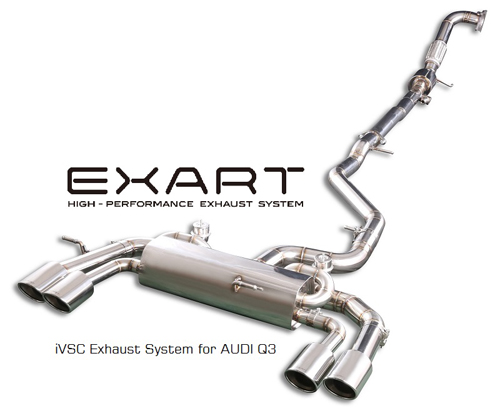 EXART iVSC Exhaust System アウディ Q3 2.0TFSI 8UCCZF/8UCPSF用 (EA01-AU103)【マフラー】【自動車パーツ】エクスアート エキゾーストシステム