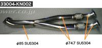 HKS Stainless Center Pipe 日産 ニッサン GT-R R35用 (33004-KN002)【マフラー】【自動車パーツ】エッチケーエス ステンレスセンターパイプ【送付先が車関連の法人様のみの対応】