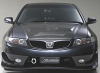 J's RACING フロントバンパー タイプS(FRP) ホンダ アコード CL7/CL9/CM2用 (品番:JSF-E2-F)【エアロ】ジェイズレーシング Front Bumper