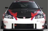 J's RACING フロントバンパー タイプS(カーボン) ホンダ インテグラ MC後 DC5-230用 (品番:JSF-T5K-C)【エアロ】ジェイズレーシング Front Bumper