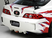 J's RACING リアバンパー&リアカナード タイプS(カーボン) ホンダ インテグラ MC後 DC5-230用 (品番:JSR-T5K-C)【エアロ】ジェイズレーシング Rear Bumper Rear Canard