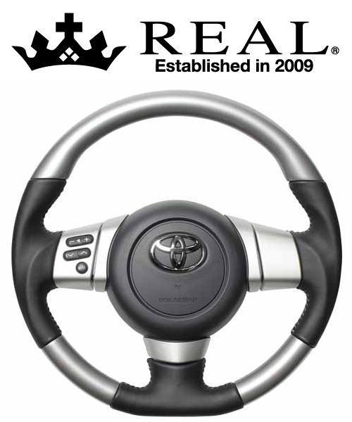 REAL STEERING オリジナルシリーズ トヨタ FJクルーザー GSJ15W用 カラー:シルバーカラー (FJ-SLW-SL)【ハンドル】レアル ステアリング