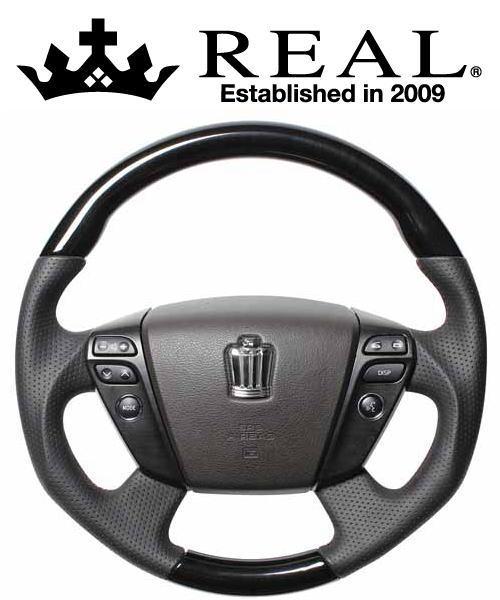 REAL STEERING オリジナルシリーズ トヨタ クラウンアスリート 200系用 カラー:ロイヤルブラックウッド (H20-RKW-DW)【ハンドル】レアル ステアリング