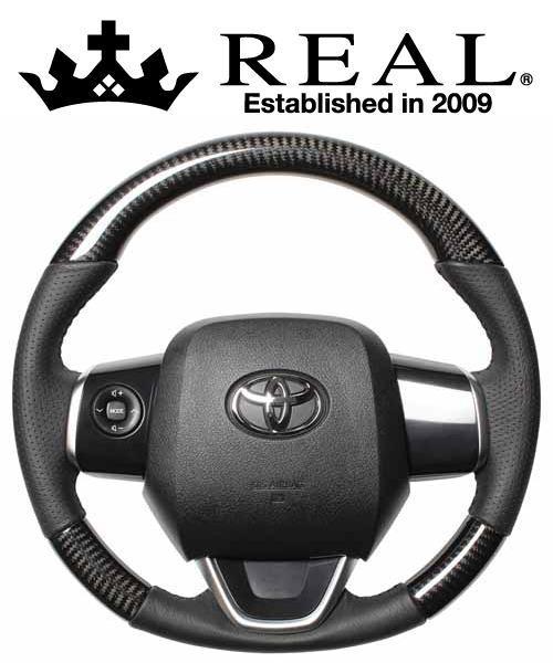 REAL STEERING オリジナルシリーズ スバル トレジア 120系用 カラー:ブラックカーボン (P130-BKC-BK)【ハンドル】レアル ステアリング