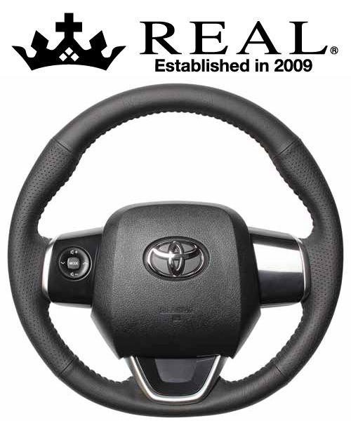 REAL STEERING オリジナルシリーズ トヨタ ラクティス 120系用 カラー:レッド&ブラックオールレザー (P130-LPB-SL)【ハンドル】レアル ステアリング