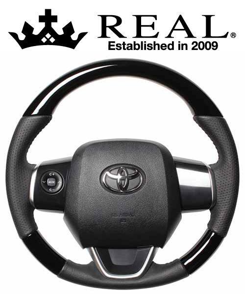 REAL STEERING オリジナルシリーズ トヨタ ラクティス 120系用 カラー:ピアノブラック (P130-PBW-BK)【ハンドル】レアル ステアリング