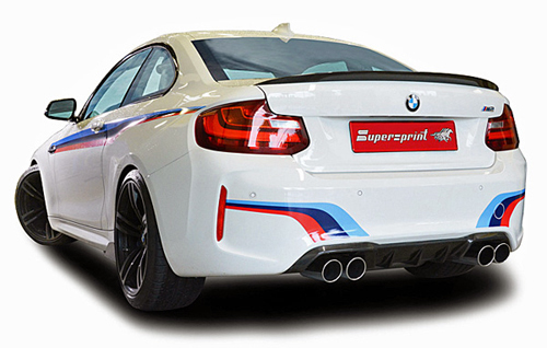 スーパースプリント BMW M2 F87用 マフラーセット(純正バルブコントロール対応) 左右4本出し(レーシング)(523513/523626)【eマーク適合無】【マフラー】【自動車パーツ】Supersprint ハイパフォーマンスエキゾーストシステム