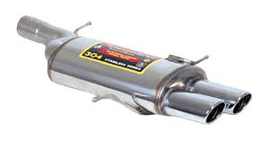 スーパースプリント アウディ S4 2.7(V6) セダン/ワゴン B5/8D 片側楕円ダブル(762507)【eマーク適合品】【マフラー】【自動車パーツ】Supersprint ハイパフォーマンスエキゾーストシステム