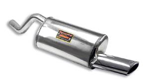 スーパースプリント ルノー トゥインゴ RS スポール 1.6 '09-用 リアマフラー 片側楕円シングル120×80mm (874105)【eマーク適合無】【マフラー】【自動車パーツ】Supersprint ハイパフォーマンスエキゾーストシステム