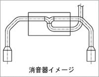 Monster sport sports muffler Suzuki Swift sports car ZC32S for MT (241590-4850 M)