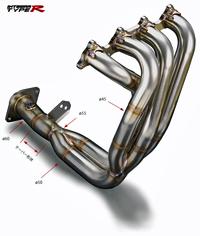 低価格の トダ レーシング タイプR エキゾーストマニフォールド Manifold ホンダ インテグラ タイプR Exhaust 98スペック DC2/DB8用 バージョン2(18100-DC2-981)【エキマニ】TODA RACING Exhaust Manifold 戸田レーシング, アップルミント:5fffcc38 --- mail.galyaszferenc.eu