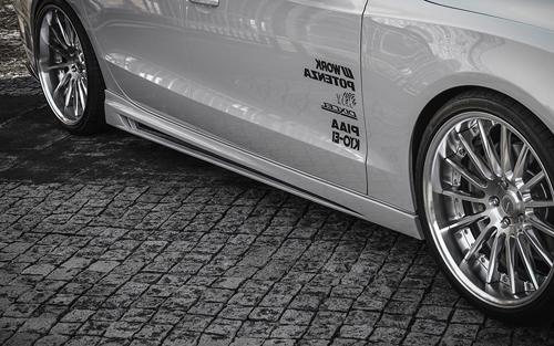 ROWEN PREMIUM Edition サイドステップ(FRP) 素地 AUDI A5 スポーツバック フェイスリフト 8TCDN用 (1A003J00)【エアロ】ロェン プレミアムエディション【車法人のみ送料無料】