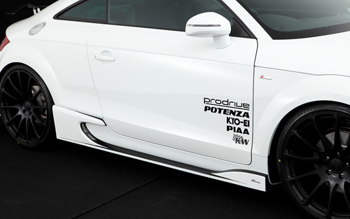 ROWEN PREMIUM Edition サイドステップ(カーボン) 素地 AUDI TT Sライン 8J系用 (1A005J01)【エアロ】ロェン プレミアムエディション【車法人のみ送料無料】