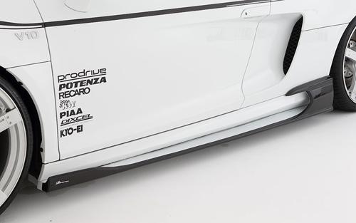 ROWEN WORLD PLATINUM サイドステップ(カーボン+FRP) 素地 AUDI R8 クーペ5.2 42CTYF用 (1A007J01)【エアロ】ロェン ワールドプラチナ【車法人のみ送料無料】