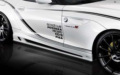 ROWEN PREMIUM Edition サイドステップ ver.2(カーボン+FRP) 素地 BMW Z4 E89 LM25/LM30/LM35用 (1B001J10)【エアロ】ロェン プレミアムエディション【車法人のみ送料無料】