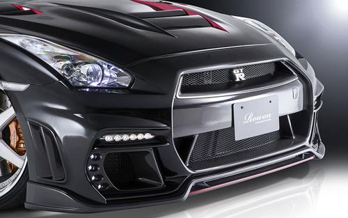 ROWEN WORLD PLATINUM フロントスポイラー(カーボン) 素地 日産 ニッサン GT-R R35用 (1N003A11)【エアロ】ロェン ワールドプラチナ