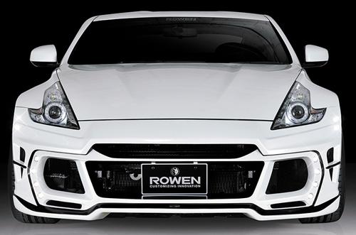 ROWEN PREMIUM Edition フロントバンパー(FRP) 素地 LED付き 日産 ニッサン フェアレディZ Z34用 (1N004A00)【エアロ】ロェン プレミアムエディション