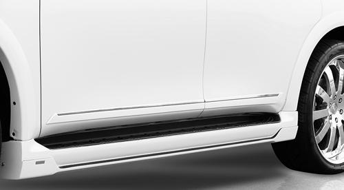 ROWEN PREMIUM Edition サイドステップ(ABS) 素地 インフィニティ QX56 VK56VD用 (1R001J00)【エアロ】ロェン プレミアムエディション【車法人のみ送料無料】