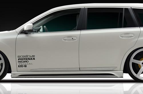 ROWEN PREMIUM Edition RR サイドステップ(FRP) 素地 スバル レガシィ ツーリングワゴン A/B/C型 BR9用 (1S001J00)【エアロ】ロェン プレミアムエディション