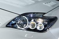 ROWEN ECO-SPO Edition RR アイラインガーニッシュ(カーボン) トヨタ プリウス M/C前 ZVW30用 (1T001H10)【エアロ】ロェン エコスポエディション