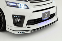 ROWEN PREMIUM Edition フロントスポイラー LEDあり(FRP) 塗装済み トヨタ ヴェルファイア Z/ZR M/C後 ANH20/ANH25/GGH20/GGH25/ATH20用 (1T002A20#)【エアロ】ロェン プレミアムエディション