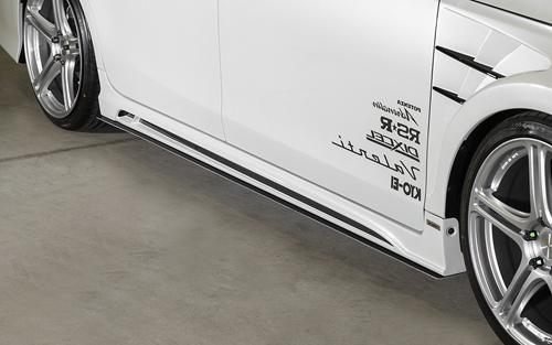 ROWEN ECO-SPO Edition サイドアンダーフラップ(FRP) 素地 トヨタ プリウスα G's ZVW40/ZVW41用 (1T005J30)【エアロ】ロェン エコスポエディション