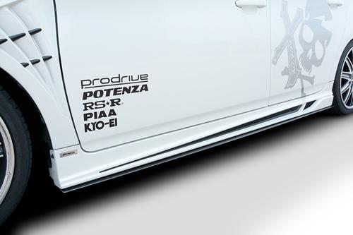 ROWEN ECO-SPO Edition サイドアンダーフラップ(カーボン) トヨタ プリウス ZVW30用 (1T008J20)【エアロ】ロェン エコスポエディション