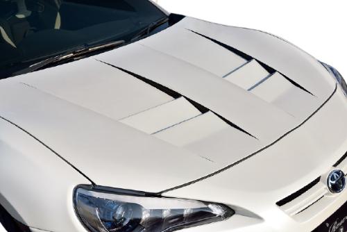 ROWEN PREMIUM Edition RRレーシングボンネット(FRP) 素地 スバル BRZ ZC6用 (1T009B00)【エアロ】ロェン プレミアムエディション