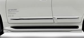 ROWEN PREMIUM Edition サイドステップ(FRP) 素地 トヨタ ランドクルーザー 後期 URJ200用 (1T011J00)【エアロ】ロェン プレミアムエディション