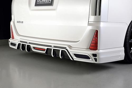 ROWEN PREMIUM Edition リアハーフスポイラー(FRP) 素地 トヨタ ヴォクシー ZS ZRR80W用 (1T013P00)【エアロ】ロェン プレミアムエディション