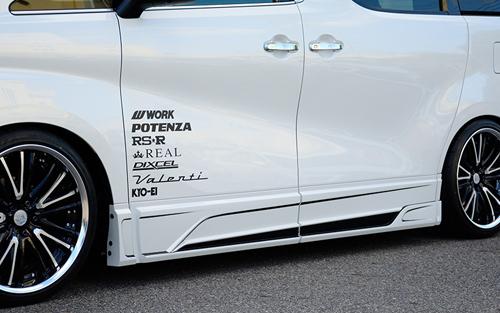 ROWEN JAPAN PREMIUM サイドパネル(ABS) 単色塗装済み トヨタ アルファード S AGH30W/AGH35W/GGH30W/GGH35W/AYH30W用 (1T018J00#)【エアロ】ロェン ジャパンプレミアム