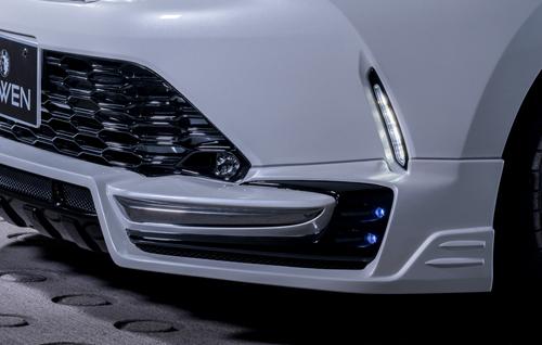 ROWEN SV PREMIUM Edition フロントメッキガーニッシュ(ABS) トヨタ ハリアー/ハリアーハイブリッド 後期 ZSU60W/ZSU65W/ASU60W/ASU65W/AVU65W用 (1T029A01)【エアロ】ロェン エスブイプレミアムエディション