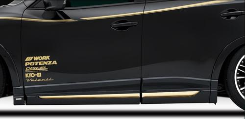 ROWEN PREMIUM Edition サイドパネル(FRP) 塗装済み マツダ CX-5 KEEFW/KE5FW/KE5AW/KE2FW/KE2AW用 (1Z001J00#)【エアロ】ロェン プレミアムエディション