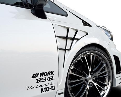 ROWEN ECO-SPO Edition RRフロントフェンダー(FRP) 素地 トヨタ プリウスα G's ZVW40/ZVW41用 (2T005F00)【エアロ】ロェン エコスポエディション