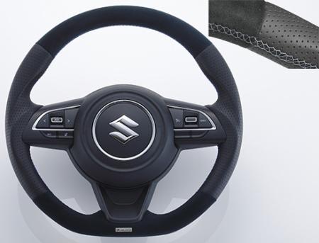 TRUST GReddy STEERING オールレザー シルバーステッチ スズキ スイフトスポーツ ZC33S用 (16690001)【ハンドル】トラスト ステアリング All Leather