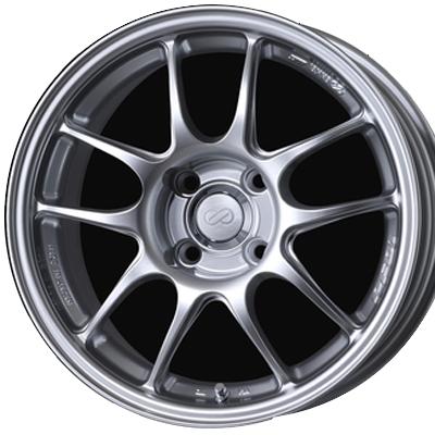 ホイール: ENKEI PerformanceLine PF01 ホイールサイズ: 5.0J-16 タイヤ銘柄: BRIDGESTONE Playz PX-C タイヤサイズ: 185/55R16 タイヤ&ホイール4本セット【16インチ】