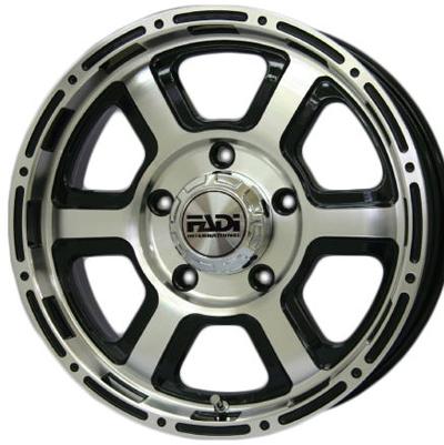 ホイール: FADI JD2 ホイールサイズ: 5.5J-16 タイヤ銘柄: TOYO TRANPATH M/T タイヤサイズ: 195R16C タイヤ&ホイール4本セット【16インチ】