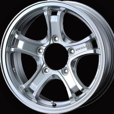 ホイール: WEDS KEELER FORCE ホイールサイズ: 5.5J-15 タイヤ銘柄: DUNLOP GRANDTREK AT3 タイヤサイズ: 205/70R15 タイヤ&ホイール4本セット【15インチ】