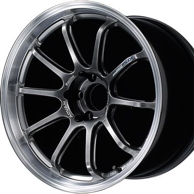 ホイール: YOKOHAMA ADVAN Racing RS-DF PROGRESSIVE ホイールサイズ: 9.0J-18 ホイールカラー: マシニング&レーシングハイパーブラック(MHB) 1本【ホイール単品】ヨコハマ アドバンレーシング