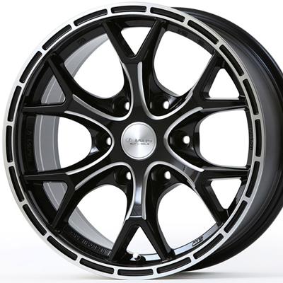 ホイール: JAOS TRIBE CLAW ホイールサイズ: 8.0J-17 ホイールカラー: ブラックミーリング 17インチ4本セット【ホイール単品】