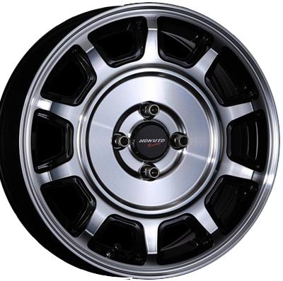ホイール: CRIMSON HOKUTO Racing 零式-S ホイールサイズ: 5.0J-15 タイヤ銘柄: YOKOHAMA ECOS ES31 タイヤサイズ: 165/55R15タイヤ&ホイール4本セット【15インチ】
