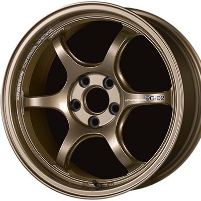 ホイール: YOKOHAMA ADVAN Racing RG-D2 ホイールサイズ: 7.0J-16 ホイールカラー: レーシングブロンズ 4本セット【ホイール単品】ヨコハマ アドバンレーシング