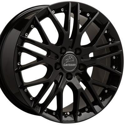 ホイール: Carlsson 1/10X RSR Black Edition ホイールサイズ: 8.5J-18 タイヤ銘柄: PIRELLI DRAGON SPORT タイヤサイズ: 235/40R18 タイヤ&ホイール4本セット【18インチ】