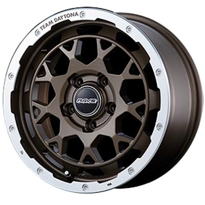 ホイール: RAYS TEAM DAYTONA M9 ホイールサイズ: 7.0J-16 タイヤ銘柄: BRIDGESTONE DUELER A/T001 タイヤサイズ: 215/70R16 タイヤ&ホイール4本セット【16インチ】