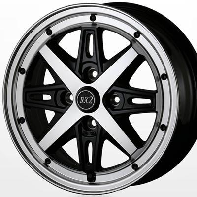 ホイール: DOALL Fenice RX2 ホイールサイズ: 4.00B-12 タイヤ銘柄: DUNLOP GRANTREK TG4 タイヤサイズ: 145R12 6P タイヤ&ホイール4本セット【12インチ】